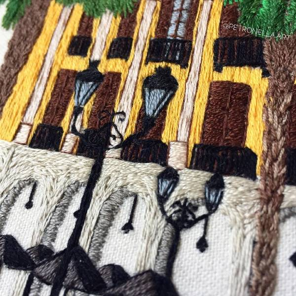 architectural thread painting
