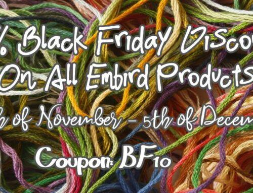 Embird Black Friday Specials 2020