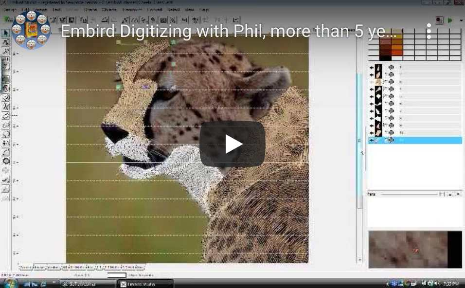 Embird Leopard Digitizing