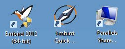 Embird Shortcut Icons
