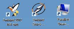 Embird Shortcut Icons
