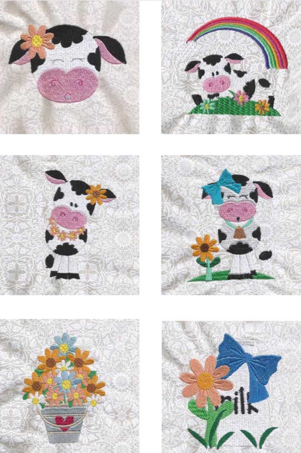 Free Machine Embroidery Design Set