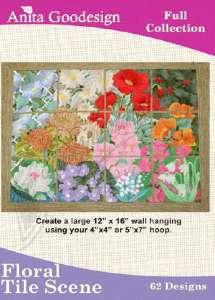 Anita Goodesign Floraral Tile Scene